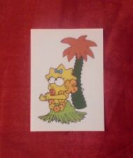 THE SIMPSONS 2001 PANINI STICKER # 159 MAGGIE AND PALM TREE 20th C FOX ITALY VGC
