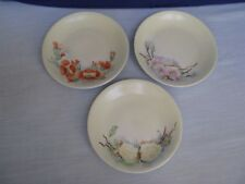 3 B&Co Limoges France Hand Painted Floral Dessert Plates Tea Snack Dishes Signed