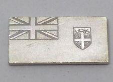 Miniature 925 Silver Flag Ingot Mini Bullion Bar Franklin Mint 1976 Fiji 🇫🇯