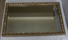 Art Nouveau Rococo Style  Bevelled Mirror Golden Floral Fauna Scroll Work