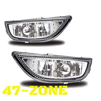 For 2001-2002 Toyota Corolla Chrome Housing Clear Lens Bumper Fog Lights Lamps