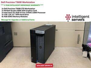 Dell T3600 Workstation, Xeon E5-1620 3.6GHz,16GB DDR3, 1TB HDD, Quadro 4000