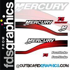 Mercury 75hp four stroke outboard decals/sticker kit