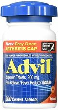 Advil Ibuprofen 200 mg 200 Tablets Exp 1/19 Easy Open Arthritis Cap
