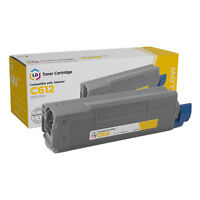 LD Compatible Replacement for Okidata 46507501 Yellow Toner for C612dn & C612n