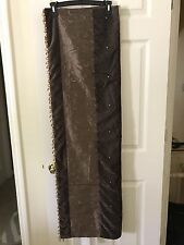 "Beaded  Edges Throw Bed Sofa VELVET/POLY Size 50""x 60"" Brown Gold Embellished"