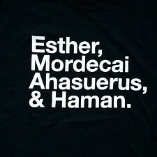 Esther, Mordecai, Ahasuerus, Haman Longsleeves Jewish Feast of Purim T-shirt-MED