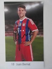 Juan Bernat original handsignierte Autogrammkarte FCB FC Bayern München 14 15