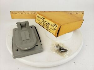 Hubbell 5221 Weatherproof Lift Cover Plate F.S. Box NOS