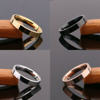 Unisex Titanium Steel Finger Rings Lovers Wedding Jewelry Ring Size 5-12
