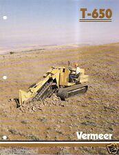 Equipment Brochure - Vermeer - T-850 - Trencher Trench Cutter - c1987 (E1789)
