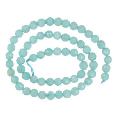 """15.5"""" Rich Blue Green Amazonite Facted Round Beads 6mm #71111"""