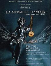 PUBLICITE ADVERTISING 094  1970  AUGIS  la médaille d'AMOUR