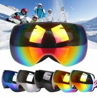 Double-Lens Professional Frameless Snowboard Snowmobile Ski Goggles Anti Fog UV