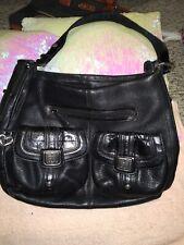 Brighton Handbag Black Leather (LG)