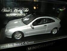 1:43 Minichamps Mercedes-Benz C Klasse Coupe 2000 silver/silber Nr 430030002 OVP