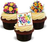 Bright Bouquet Mix Thank You Stand Up Premium Card Cake Topper