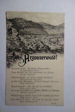 Ansichtskarte Patriotika  Militär Krieg WK I  FRankreich Argonnenwald Feldpost