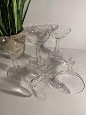 Hollow Stem Bulbous Champagne Glasses (5)c clear