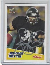2008 JEROME BETTIS UPPER DECK ON CARD AUTO KELLOGG'S, PSA/DNA, JSA BECKETT, READ