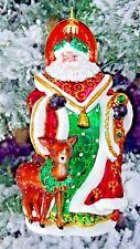 "Christopher Radko "" MY DEER SANTA"" Fawn Opulent New Ornament #1018685"
