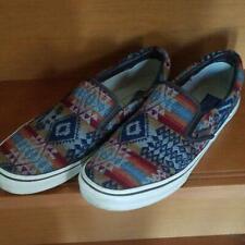 PENDLETON VANS Collaboration Slip-on Sneakers Flat Shoes Native Men's US9.5 USED