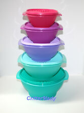 New Tupperware Retro Servalier Bowl Tower with One Touch Seals Pretty Colors