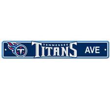 "Tennessee Titans Ave Street Sign 4""x24"" NFL Football Team Logo Avenue Man Cave"