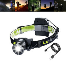 CREE LED Headlamp Zoomable Rechargeable Battery Powered head torch Camping,5V