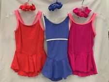 Euc Del Arbour Group of 3 Figure Skating Dresses Child 0-2 w/matching scrunches