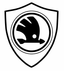 4 x CUSTOM SKODA VRS SHIELD CAR DECAL STICKERS FREE P&P OCTAVIA FABIA BARGAIN