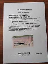 Microsoft Windows Server 2012 R2 USER / Nutzer 5 Cal Erweiterungslizenz Lizenz