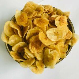 Dried Sweetened Organic Crispy Banana Slices Fruit Chips Ceylon 100g Food Snack
