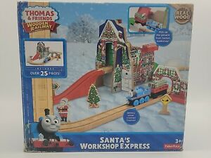 Thomas And Friends Santa's Workshop Express Wooden Railway New Discontinued Rare