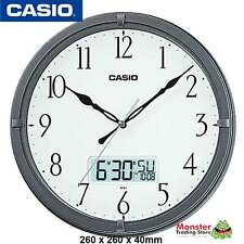 CASIO WALL CLOCK IC-01-8DF WITH DAY & DATE 12-MONTH WARANTY