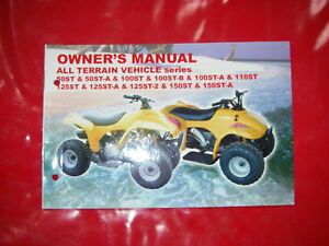 owner's manual Bedienungsanleitung manuel du proprietaire QUAD LIFAN SG 50 - 150