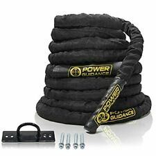 POWER GUIDANCE Battle Rope, 38mm/50mm Width Poly Dacron 9m/12m/15m Length