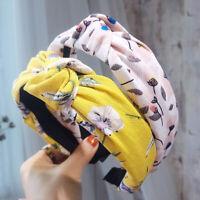 Women's Wide Bow Knot Headband Hairband Fabric Hair Hoop Bands Twist Accessories