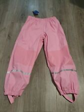 Lupilu Girls Over Pants Waterproof Trousers Pink 4-6 Years reflective Windproof