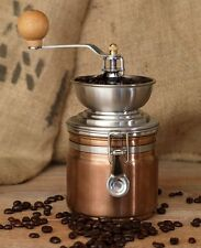 La Cafetiere COPPER COFFEE GRINDER Manual Coffee Bean MILL Stainless Steel