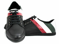 Men Lace Up Trainers Casual Fashion Sport Designer Italian Running Shoes Size UK