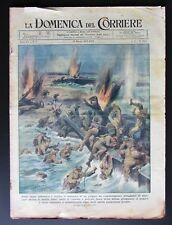 D del corriere 1945 COSTA ADRIATICA SBARCO FALLITO aviazione Reich aerei caccia
