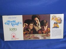 New Vintage Edu-Game Lotto The World About Us Ages 3-8 Reading Game Cards 1970