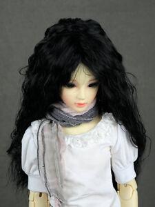 """JD22 6-7"""" Long Black 1/6 BJD YO-SD SD BJD Doll Super Dollfie Wig"""