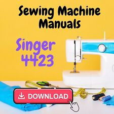 Singer 4423 Heavy Duty Sewing Machine Instructions and Service Repair Manual ⭐