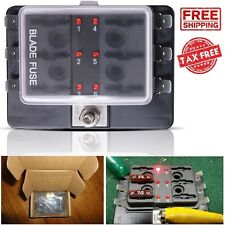 block base car audio and video fuses holders mictuning led illuminated 6 way fuse block holder box automotive blade cover car