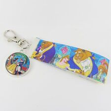 BEAUTY AND THE BEAST BAG CHARM disney princess belle tale as old as time prince