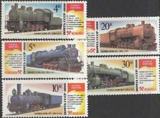 Russia 1986 Sc 5701-5705 Steam Locomotives Trains Monuments Scott 5500-5504 MNH