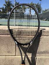 Late 1980s Prince Graphite Pro midsize 90sq tennis racket 4 3/8 gut hybrid