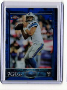 Matthew Stafford 2015 Topps Chrome #40 Blue Refractor SP 193/199